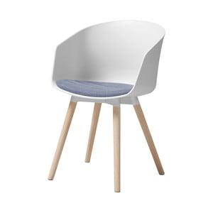 Bílá jídelní židle s dubovými nohami Interstil Moon Tempest