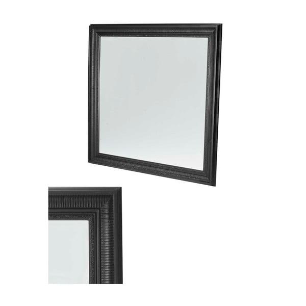 Nástěnné zrcadlo s černým rámem Furnhouse Mirror,113x113cm