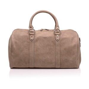 Béžová kožená cestovní taška Medici of Florence Enrico