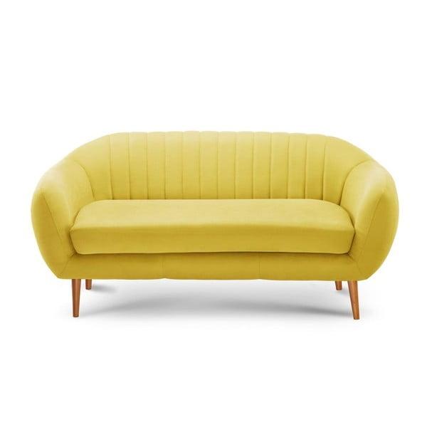 Žlutá trojmístná pohovka Scandi by Stella Cadente Maison Comete