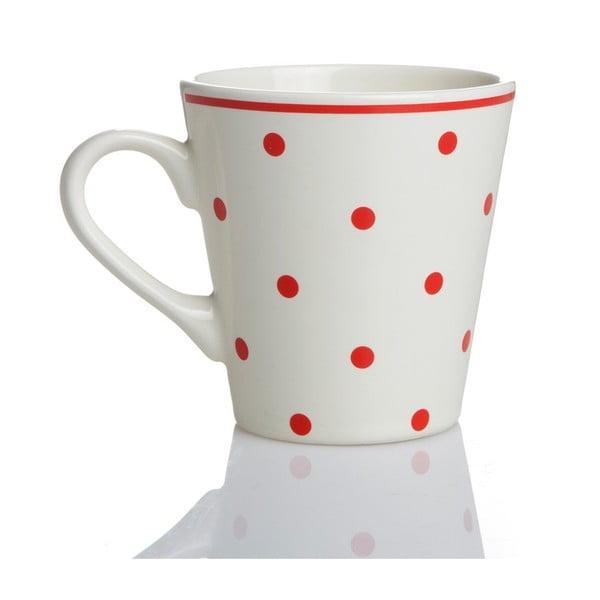 Porcelánový hrnek Červené puntíky, 275 ml