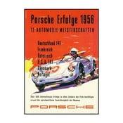 Plakát Porsche Erfolge 1956, 70x50 cm