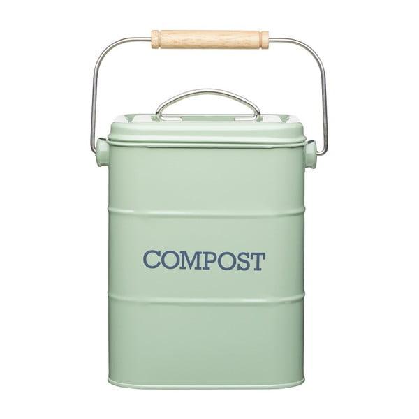 Zelený domáci kompostér Kitchen Craft Living Nostalgia, 3 l