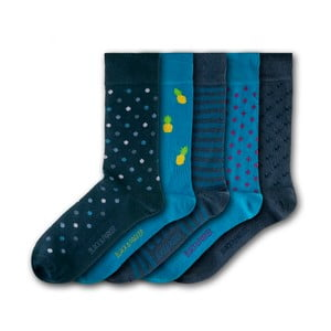 Sada 5 ponožek Black&Parker London Knoll Gardens, velikost 37 – 43