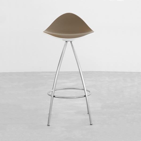 Šedá  stolička s chromovanými nohami Stua Onda, 76cm