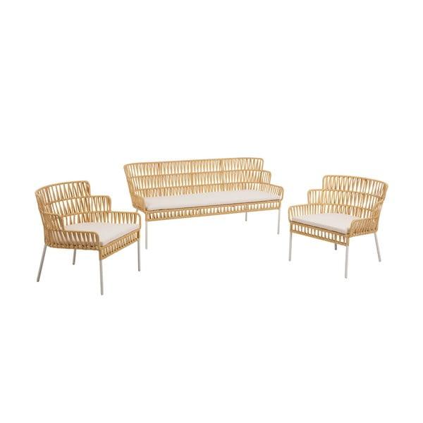 Komplet 2 foteli i sofy La Forma Robyn