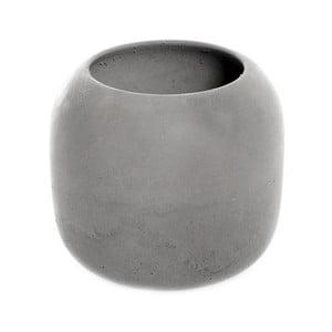 Šedý betonový kelímek na kartáčky Iris Hantverk