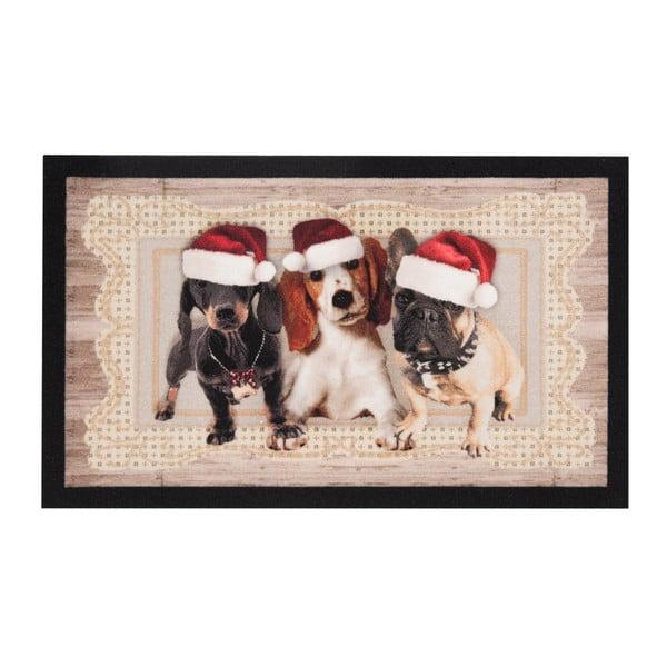 Preș Zala Living Christmas Dogs II, 45 x 75 cm