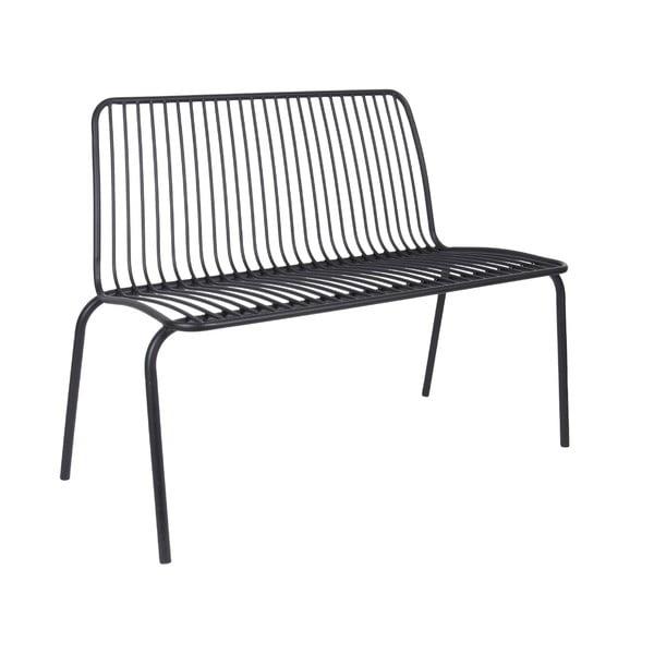 Czarna ławka odpowiednie na zewnątrz Leitmotiv Lineate