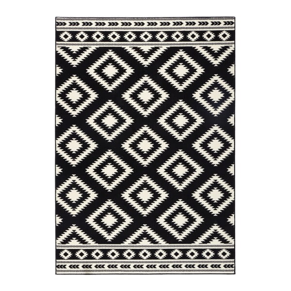 Gloria Ethno fekete szőnyeg, 200 x 290 cm - Hanse Home