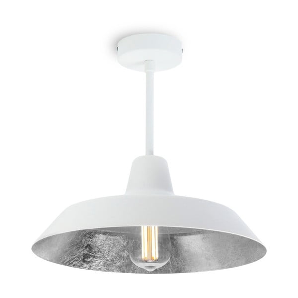 Stropní svítidlo v bílé a stříbrné barvě Bulb Attack Cinco Basic