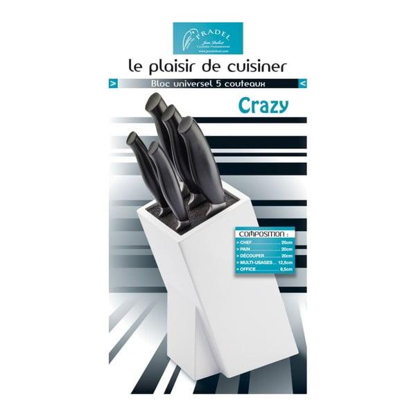 Set 5 nožů a bloku na nože Jean Dubost Crazy Blanc