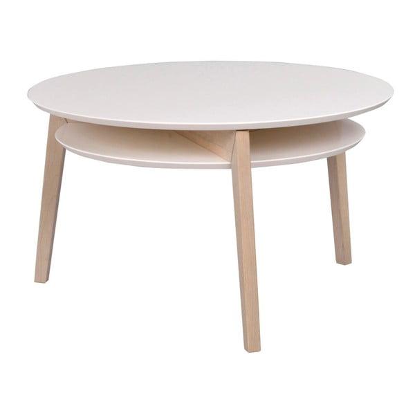 Konferenční stolek s konstrukcí ze světlého dubového dřeva Folke Rodeo, ⌀ 85 cm
