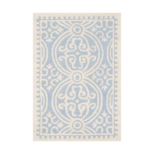 Vlněný koberec Marina Blue, 91x152 cm