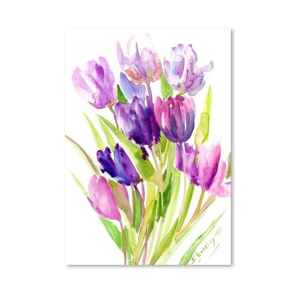 Plakát Purple Tulips od Suren Nersisyan