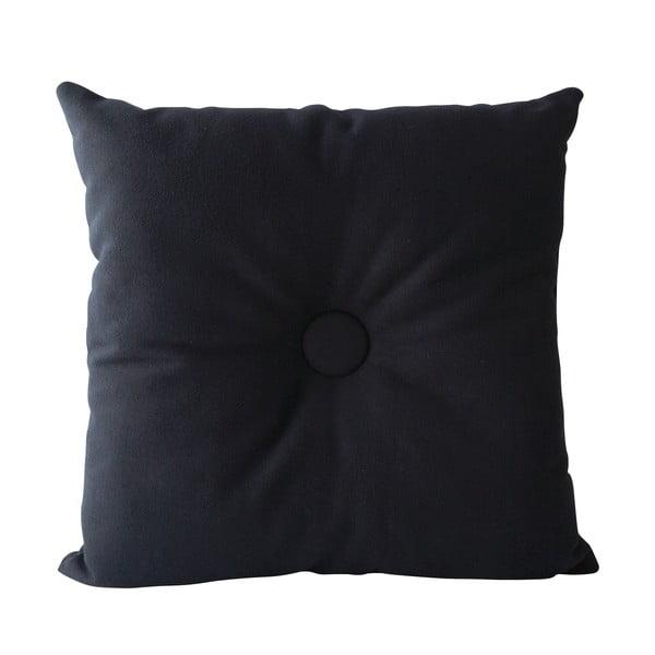 Polštář Buttons 45x45 cm, tmavě modrý