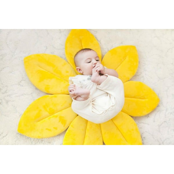 Koupací podložka BloomingBath, žlutá