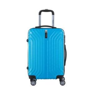 Tyrkysově modrý cestovní kufr na kolečkách s kódovým zámkem SINEQUANONE Rozalina, 44l
