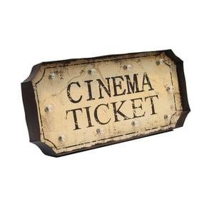 Nástěnná světelná dekorace Novita Cinema Ticket