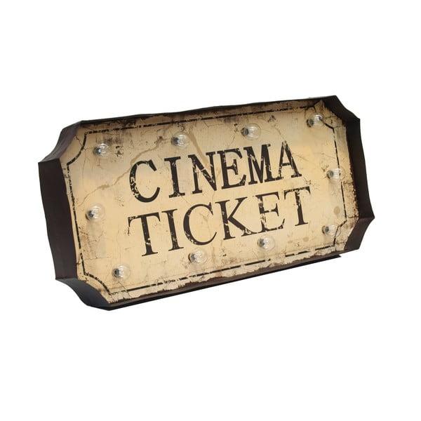 Svítící dekorace na zeď Novita Cinema Ticket