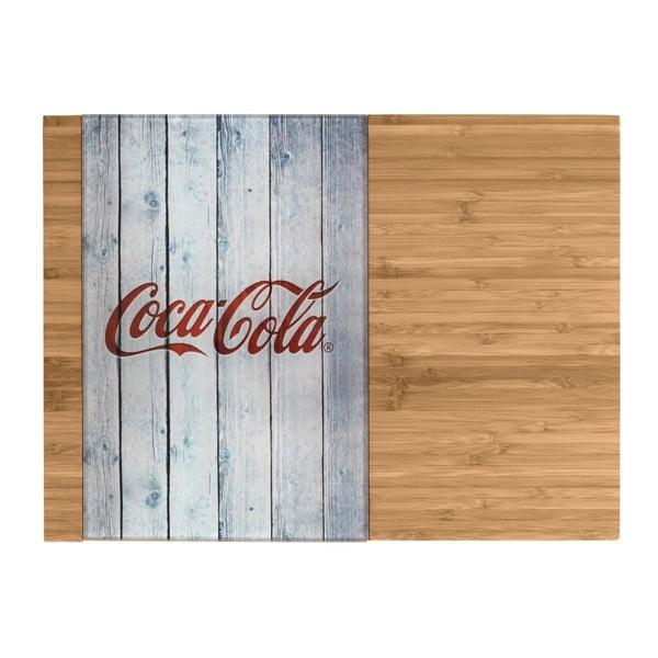 Tocător din bambus și sticlă Wenko Coca-Cola World