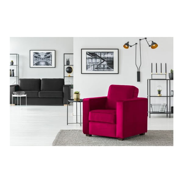Fuchsiově růžové křeslo Cosmopolitan Design Denver