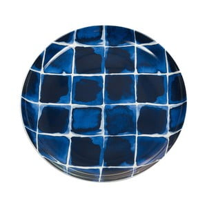 Farfurie din porțelan SantiagoPonsIndigo, ⌀ 21 cm, albastru - alb
