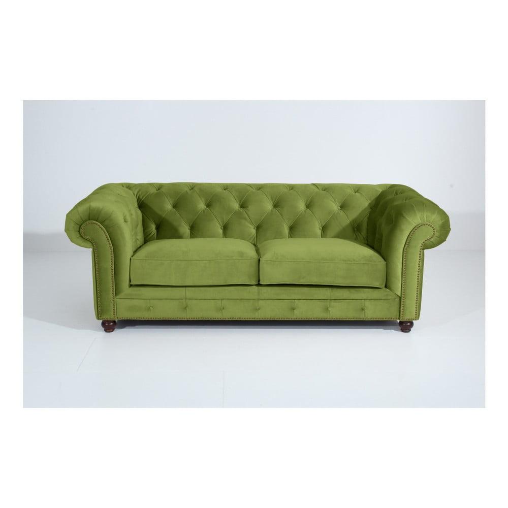 Zelená třímístná pohovka Max Winzer Orleans Velvet