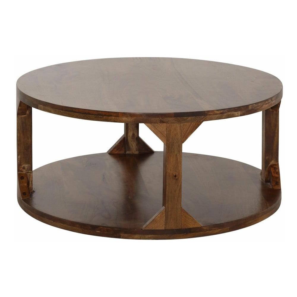 Konferenční stolek z mangového dřeva Støraa Misha, průměr 60 cm