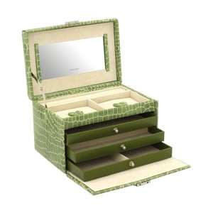 Zelená šperkovnice Friedrich Lederwaren Jolie