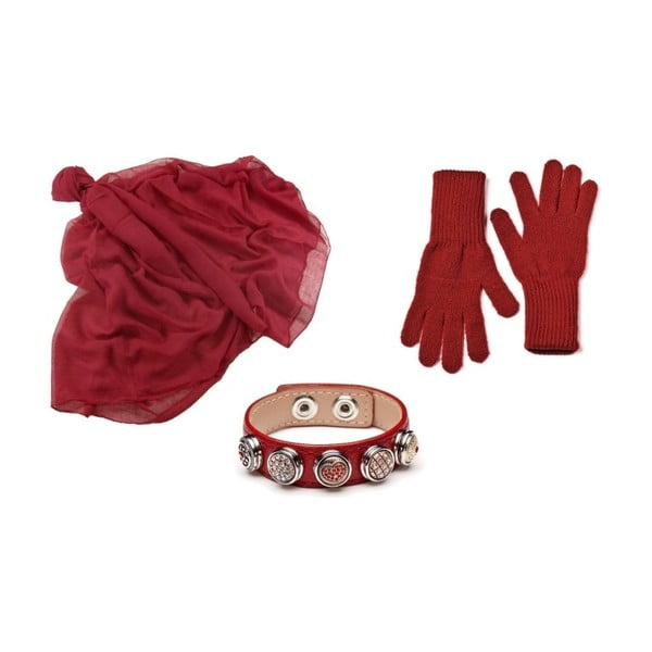 Set mănuși, șal, brățară, Lota