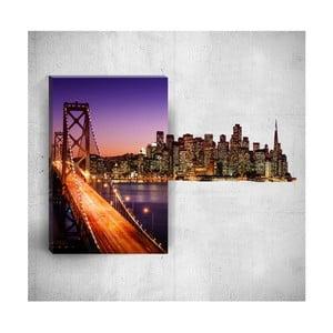 Nástěnný 3D obraz Mosticx City Lights, 40 x 60 cm