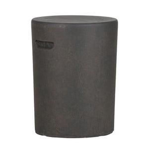 Tmavě hnědý odkládací stolek De Eekhoorn Duke