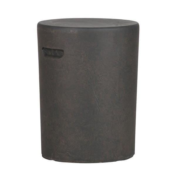 Tmavě hnědý odkládací stolek WOOOD Duke