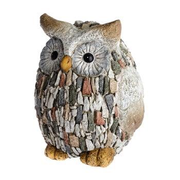 Decorațiune de grădină Dakls Garden Deco Owl With Stones, înălțime 22 cm