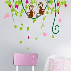 Samolepka na stěnu Opice, 60x90 cm