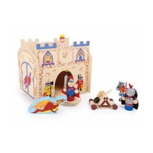 Dřevěný domeček na hraní s figurkami Legler Knights