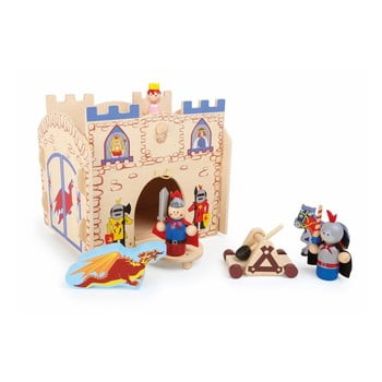 Castel și figurine din lemn Legler Knights de la Legler