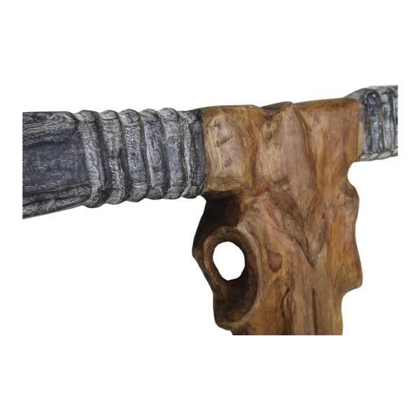 Dekorace z teakového dřeva HSM collection Buffalo Head, výška50cm