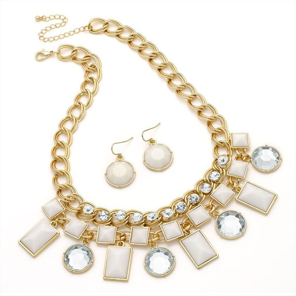 Set náhrdelník a náušnice Kara Creme
