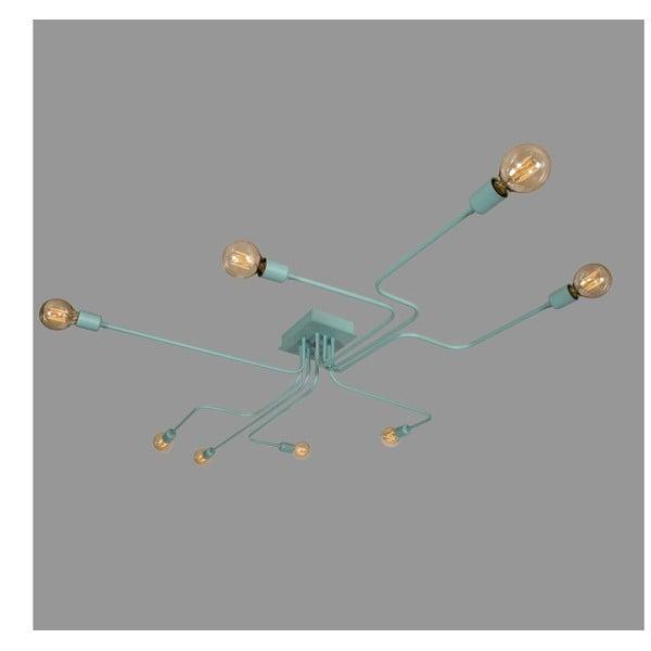 Pastělově modré stropní svítidlo Bulb