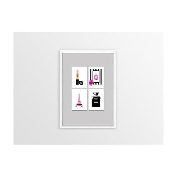 Tablou Piacenza Art Pink 4x Lipstick,30x20cm