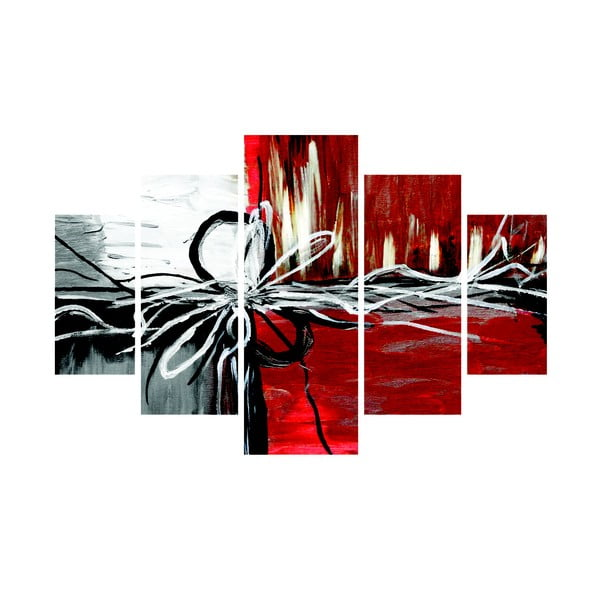 Tablou din mai multe piese Chaos, 92x56 cm
