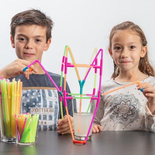 Brčková dětská stavebnice InnovaGoods Playz Kidz Drinking Straws