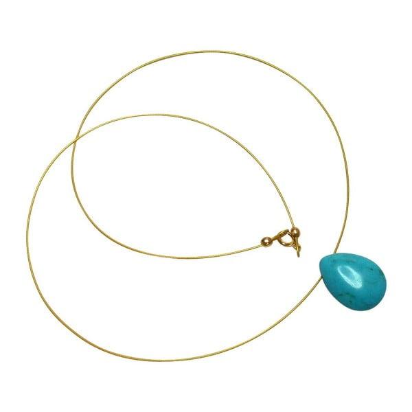 Zlatý náhrdelník Turquoise (tyrkys)