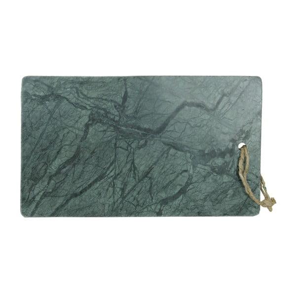 Zelené krájecí prkénko z mramoru Strömshaga Marble, 35 x 20,5 cm