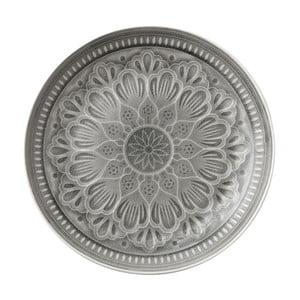 Šedý servírovací kameninový talíř Ladelle Catalina, ⌀33,5cm