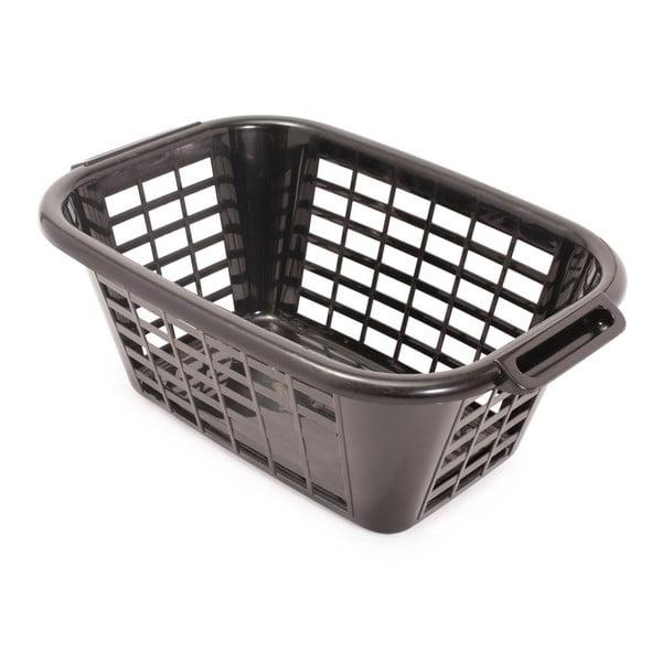 Černý koš na prádlo Addis Rect Laundry Basket, 40 l