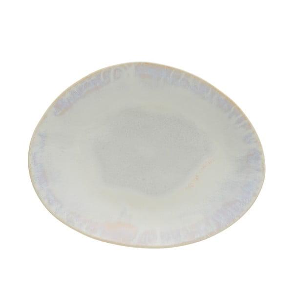 Biely kameninový oválny tanier Costa Nova Brisa