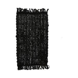 Černé jutové prostírání na stůl Simla Tassel, 45x30cm